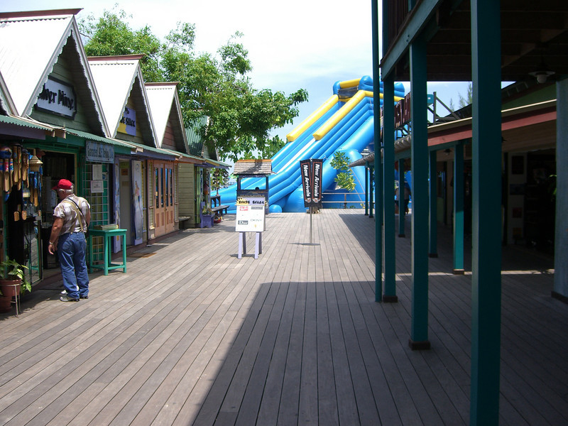 A shopping village in Ocho Rios, Jamaica