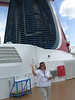 Cathy on board the Carnival Legend
