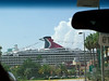 The Carnival Legend ahead at the Tampa port