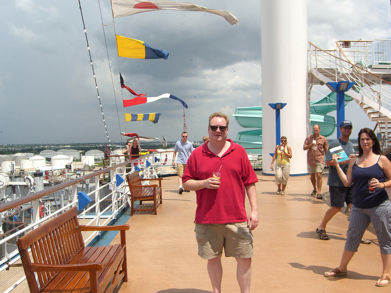 Dave and Suzanne on board the Carnival Legend