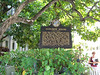 The Audubon House marker in Key West
