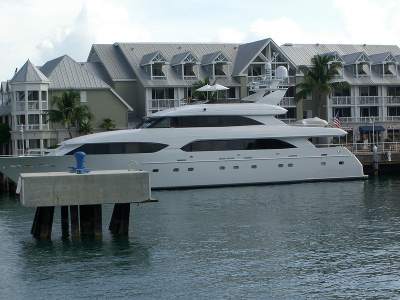 A private yacht near the cruise ship dock in Key West