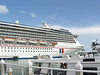 The Carnival Legend at the cruise ship dock in Key West