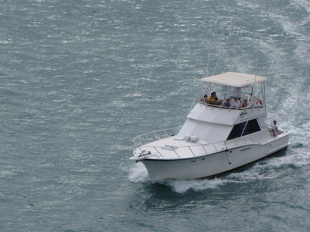 Nice fishing boat headed back to the marina.