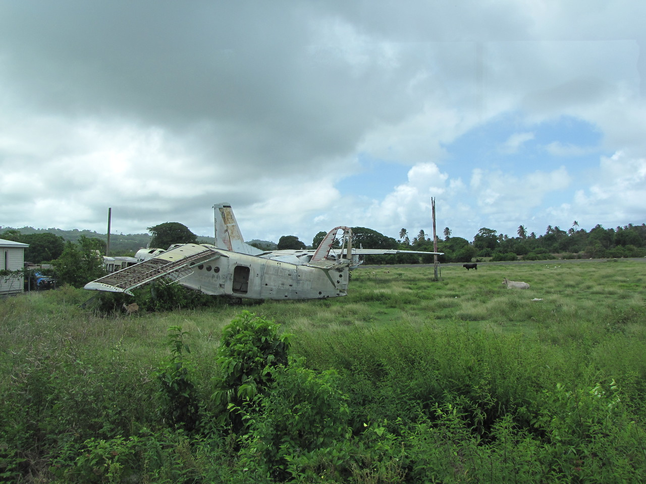 This is an abandoned Cuban aircarft at the airfield.