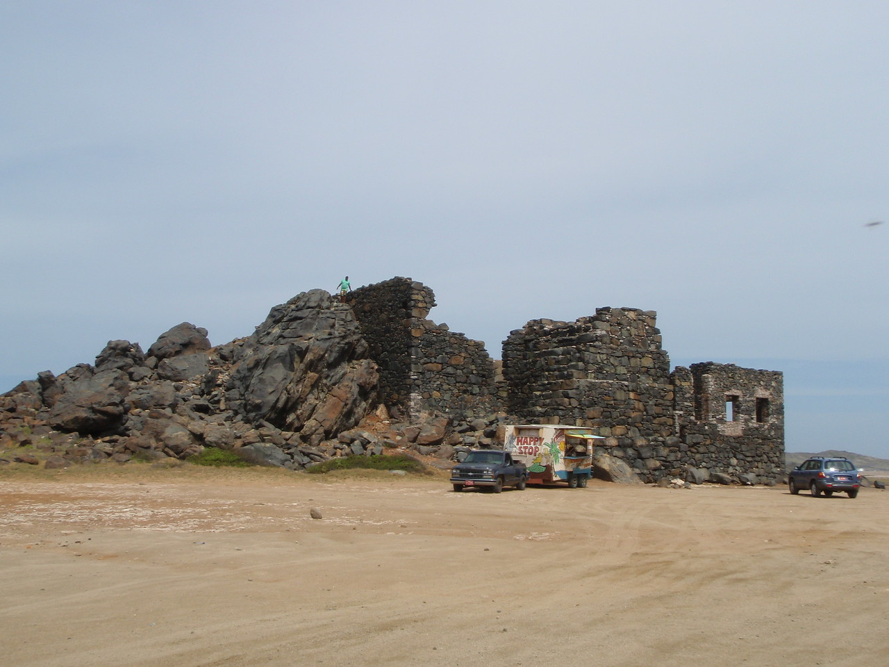 We drove by the ruins of the Bushiribana Gold Mill.