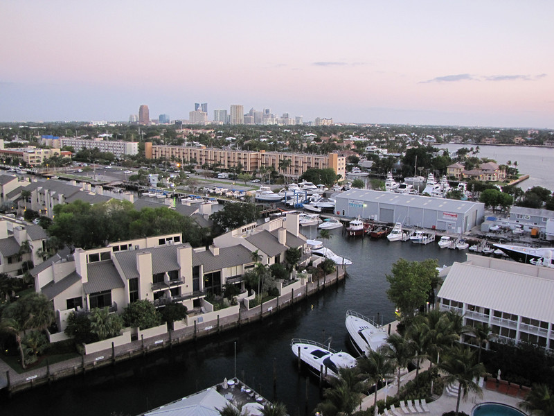 We had great views of downtown Fort Lauderdale.