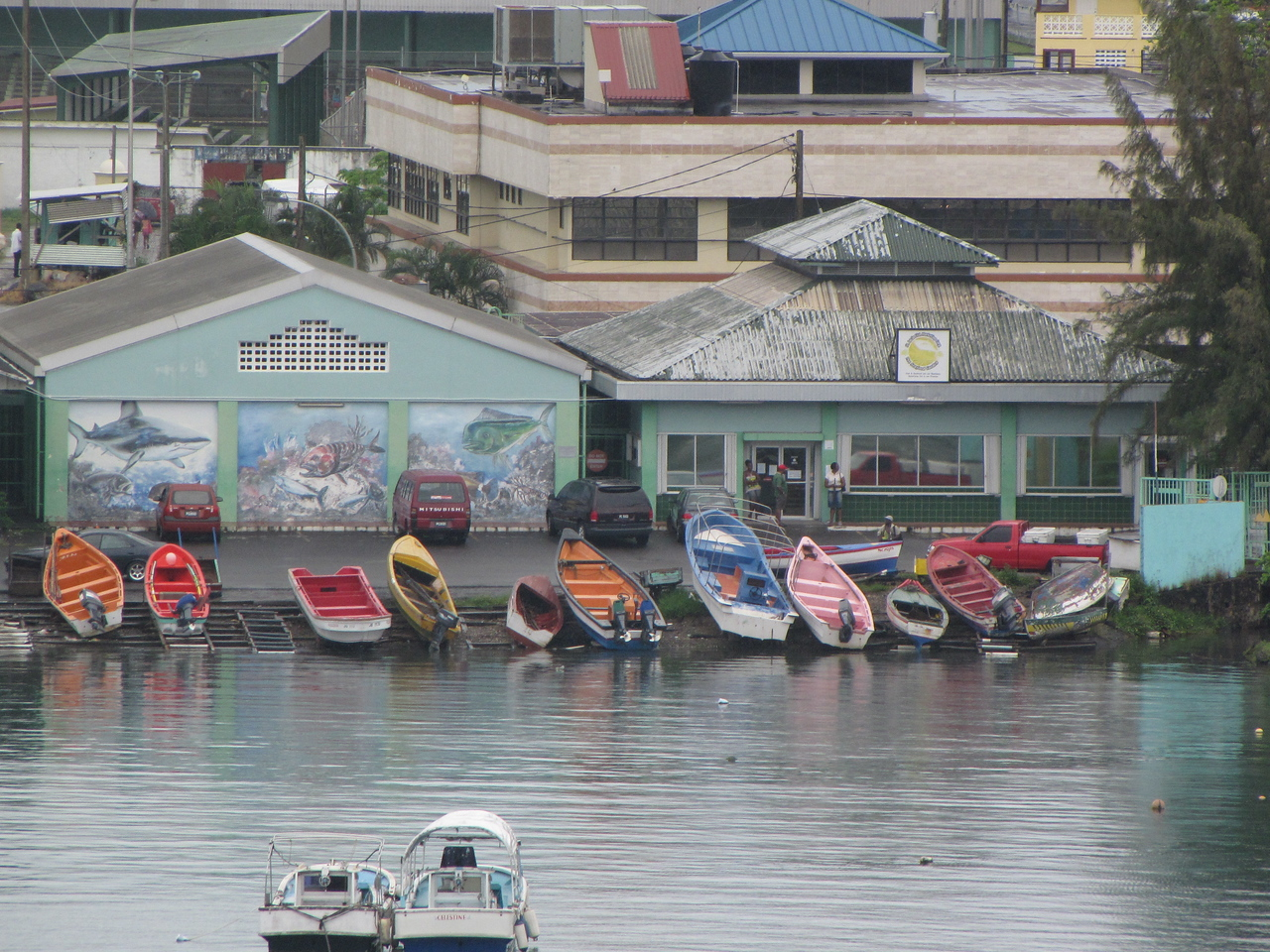 Colorful boats at the ready.