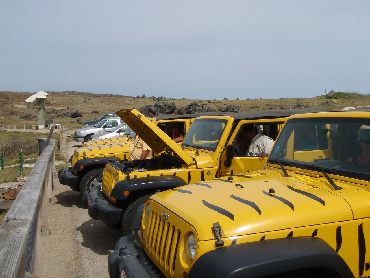 Our group experienced some technical difficulty as we prepared to leave the natural bridge.  They were able to get the jeep started after working on it for about 10 minutes.