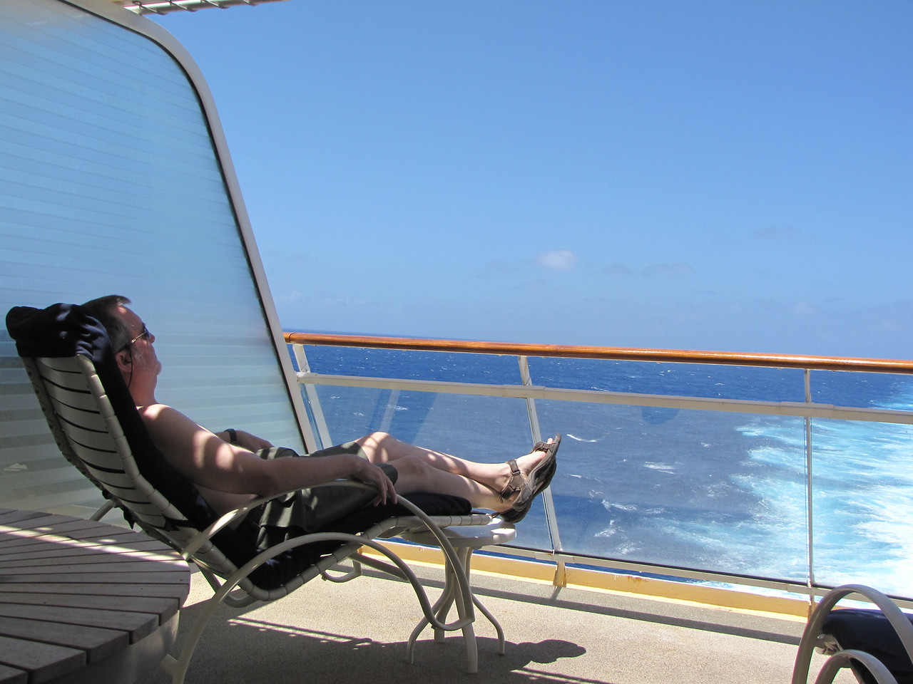 We spend much of our time on sea days lounging on our balcony.