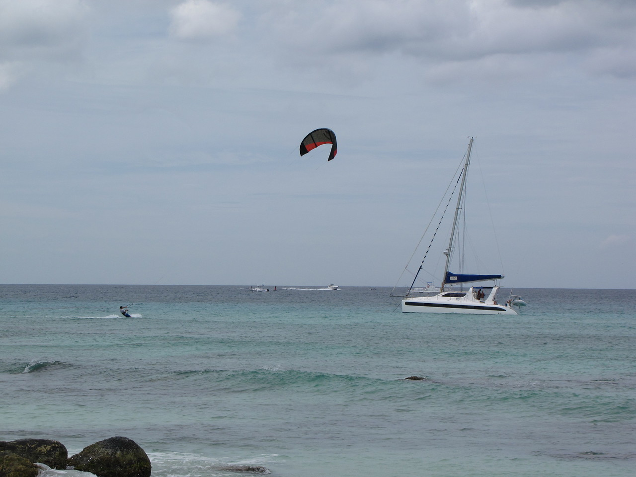 Kite boarding and catamarans.