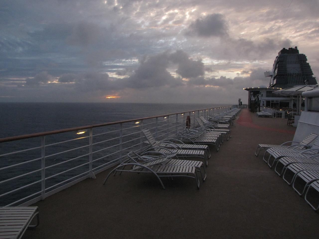 Headed from Aruba to Curacao as the sun set.