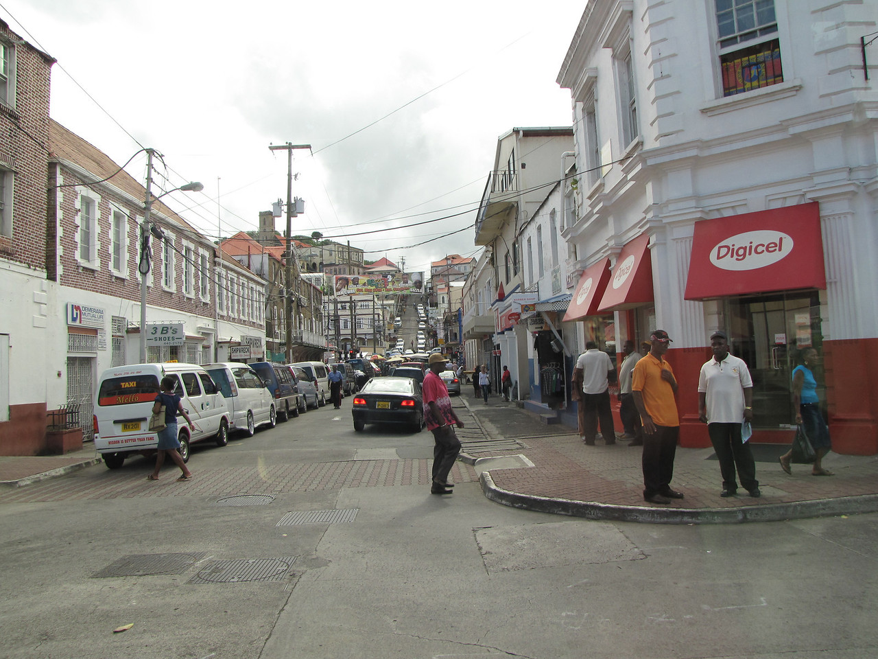 A street view of St. George's
