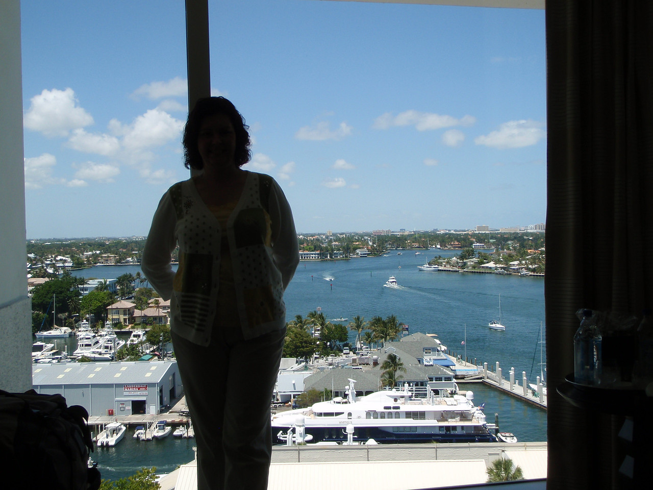 It is the first day of our Caribbean Adventure and we've arrived at the Hilton Fort Lauderdale Marina.  We were upgraded to the best suite in the hotel.  The views were fabulous.