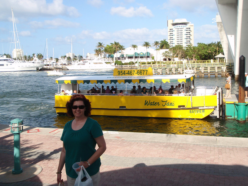 And we've left the Water Taxi.