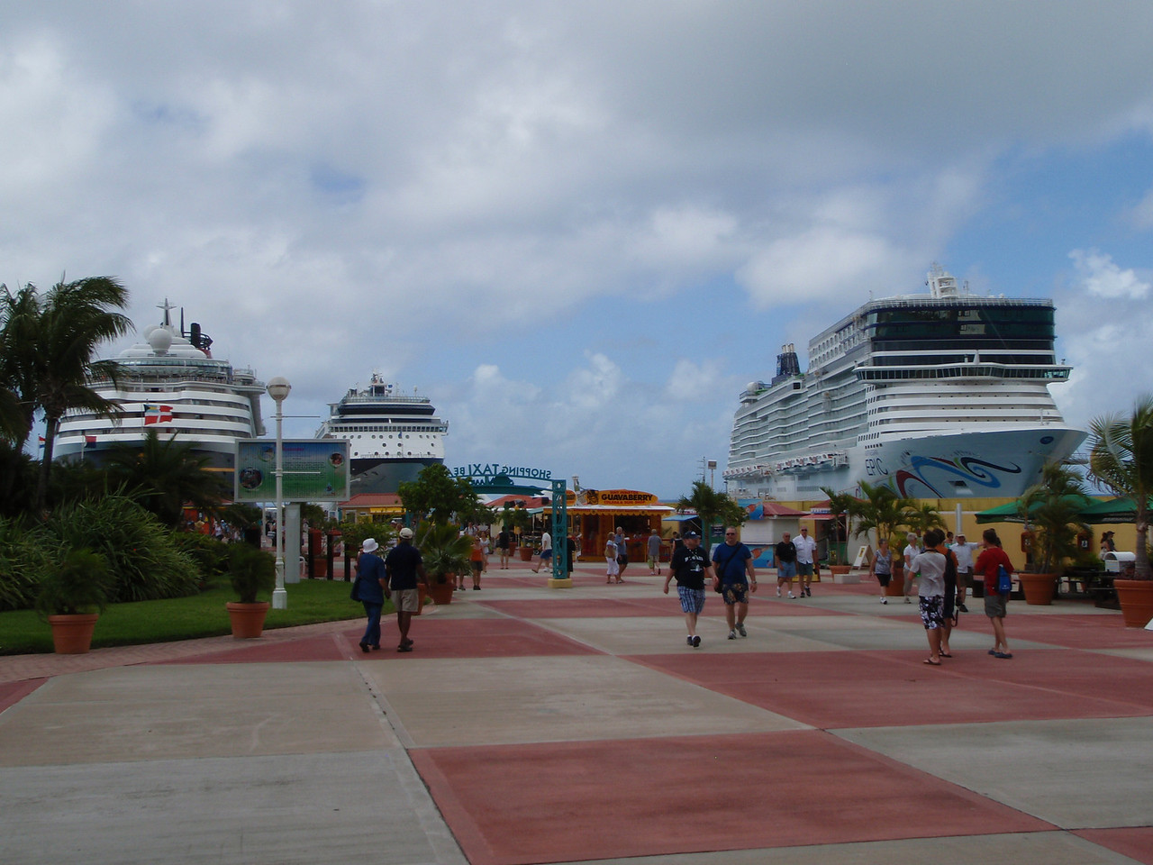 Looking back towards the ships.
