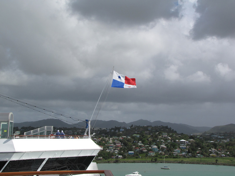 As evidenced by Carnival Freedom's flag.