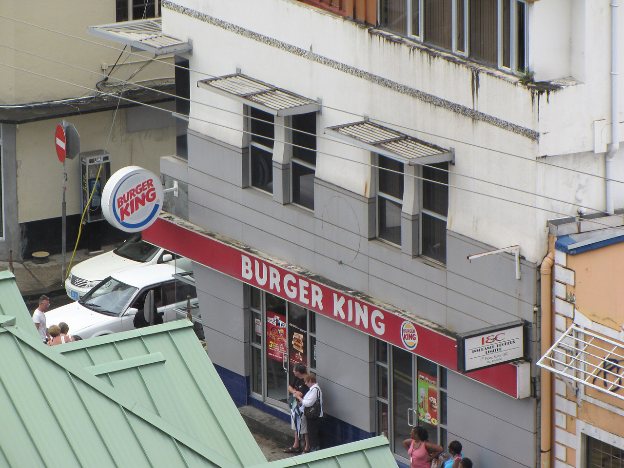 There was a Burger King not far from where we were docked.