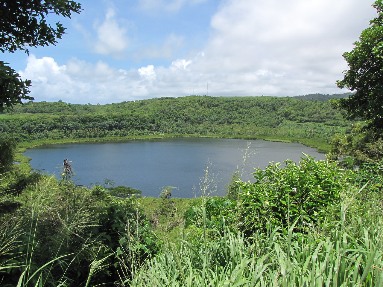 We stop for a look at Lake Antoine on the way to the River Antoine Rum Distillery.