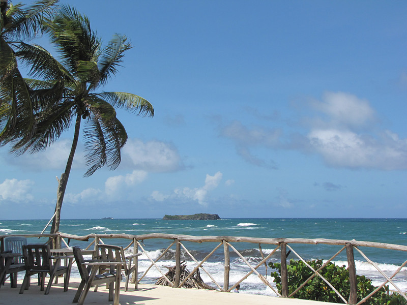 Another view of the nearby islands from the restaurant's upper deck.