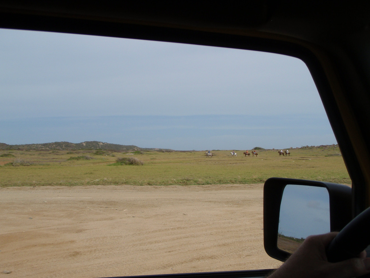We headed north along the coast where we passed a tour group on horseback.