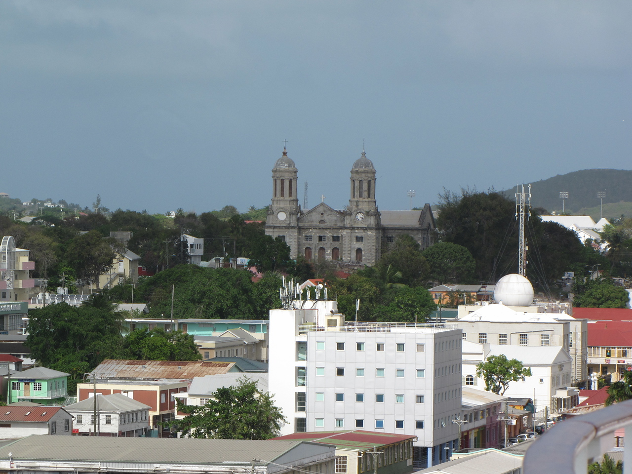 The Cathedral of St. John the Devine dates from 1683, but the current structure was built in 1834 after an earthquake damaged the original.