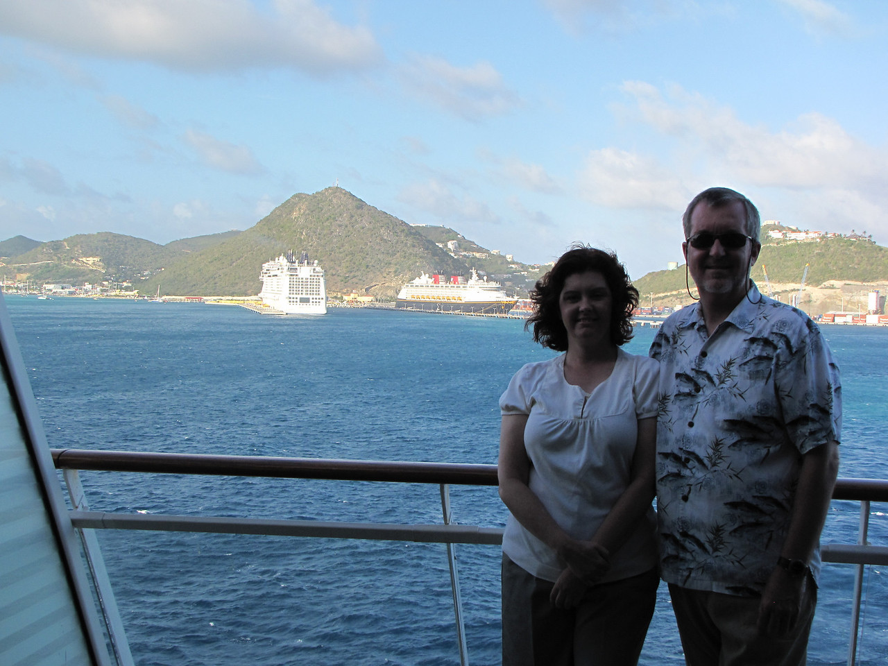 Leaving Philipsburg.  This was our third time here and it is one of our favorite ports.