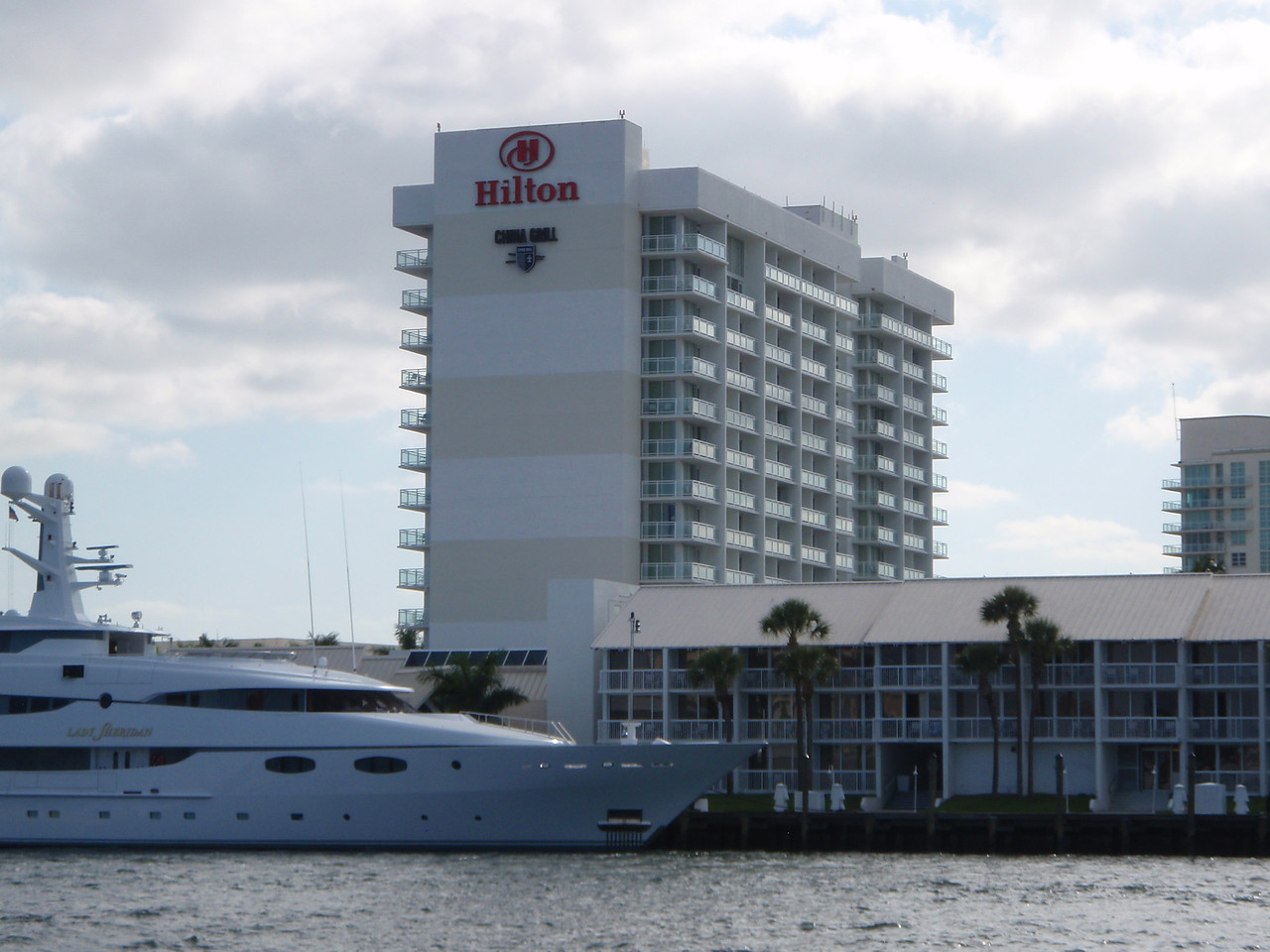Here is a good view of our hotel from the water taxi.