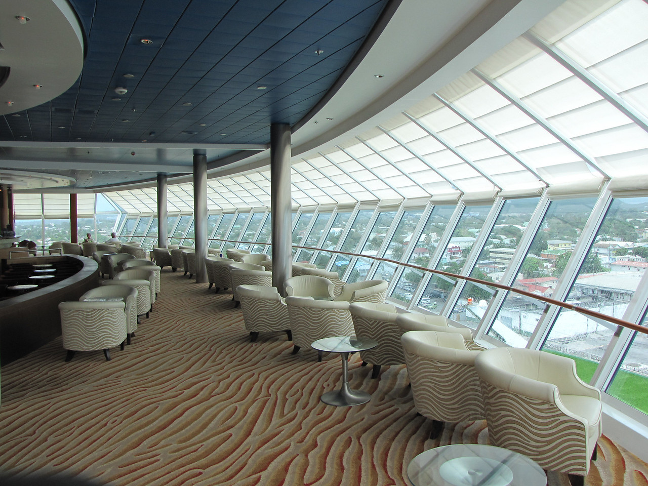 We spent quite a bit of time in these seats since the Captain's Club Elite Member Happy Hour was held here every day.