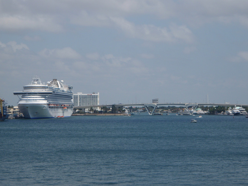 Crown Princess was in port as well.  You can see the Hilton that we stayed at just to the right of the ship.