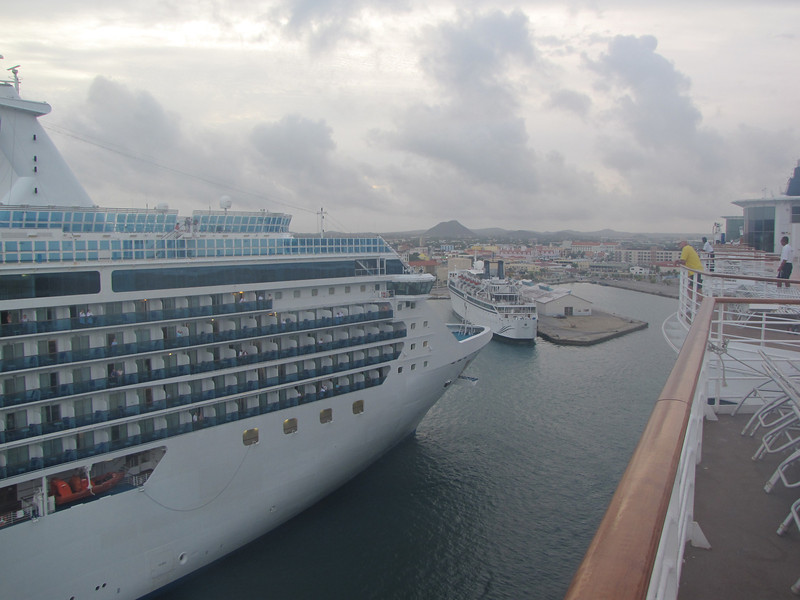 We are not the first ship to arrive at Oranjestad, Aruba