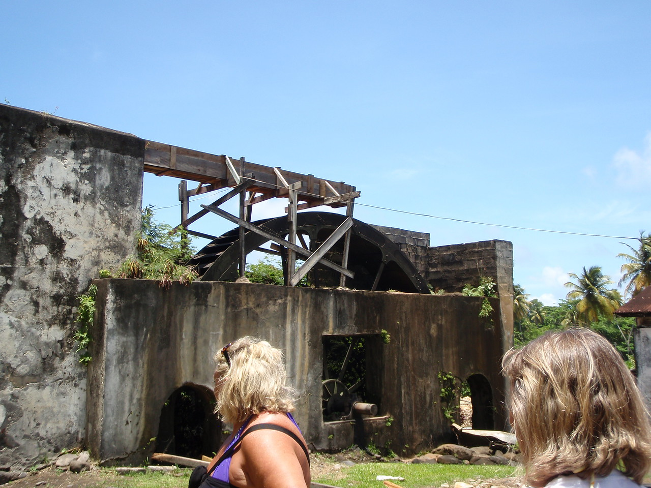 The distillery is the oldest in the Caribbean and has a working waterwheel.