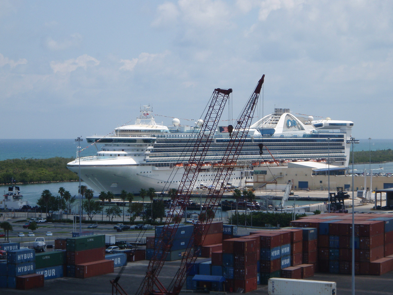 Star Princess was docked in another area of the port.  There were six cruise ships in port on Saturday.
