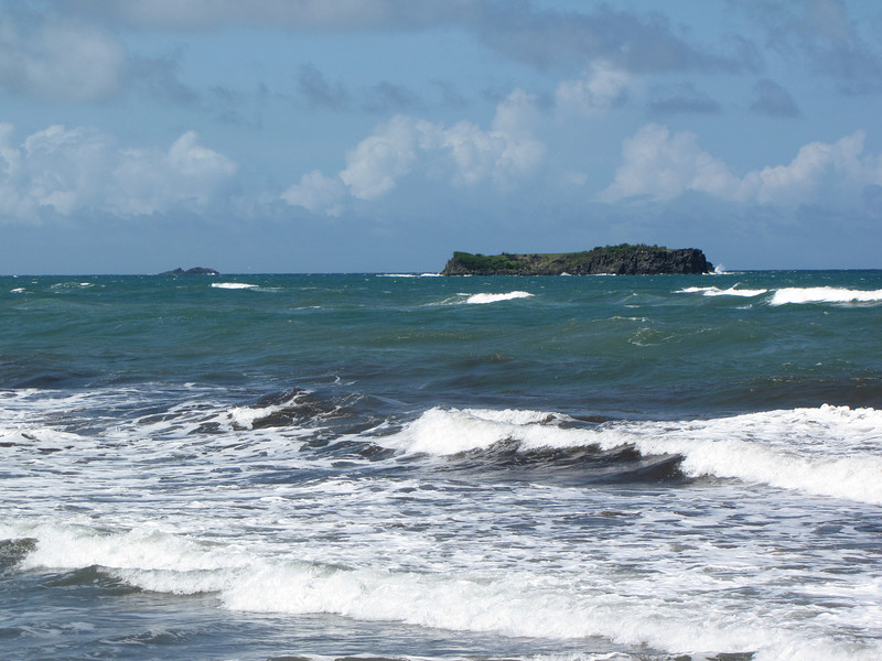 Pearl's Rock with Bird Island in the background.-