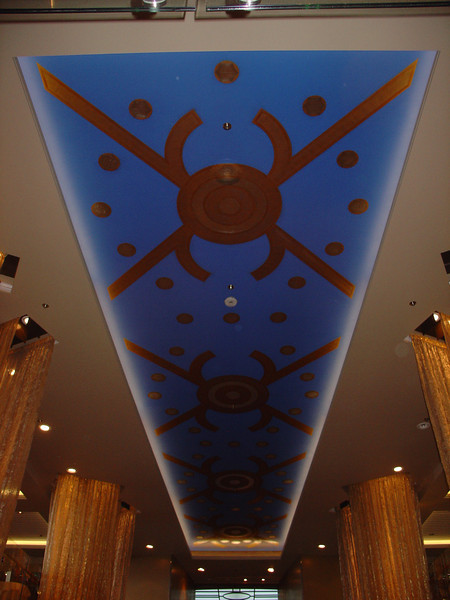 The ceiling in the Grand Foyer