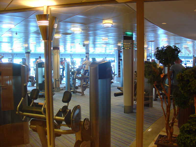 The ship's gym