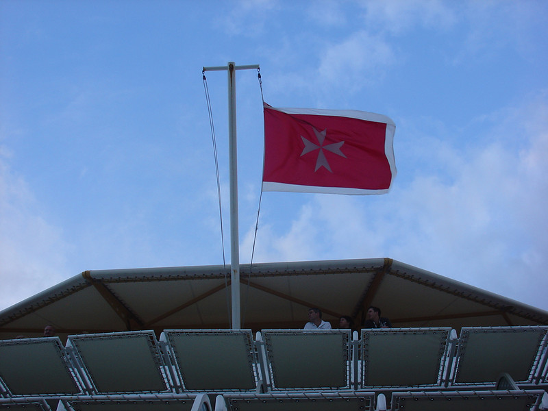 Ship's flag seen from our balcony