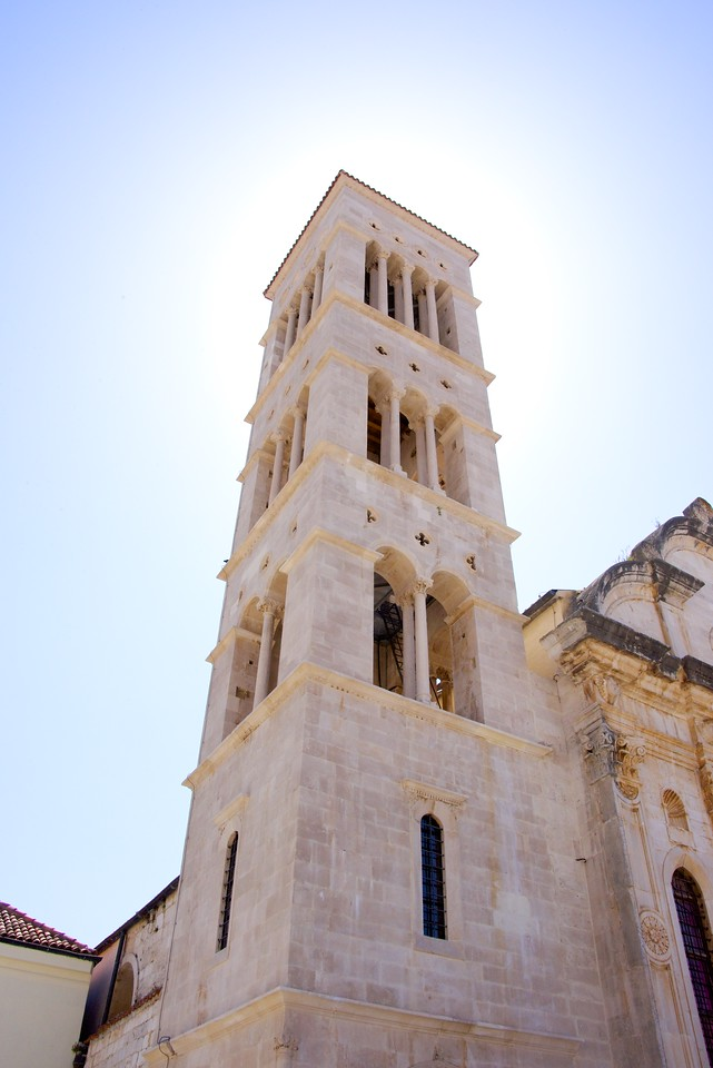 Bell Tower of St. Stephen's Cathedral. It is built to appear that it opens to the heavens.