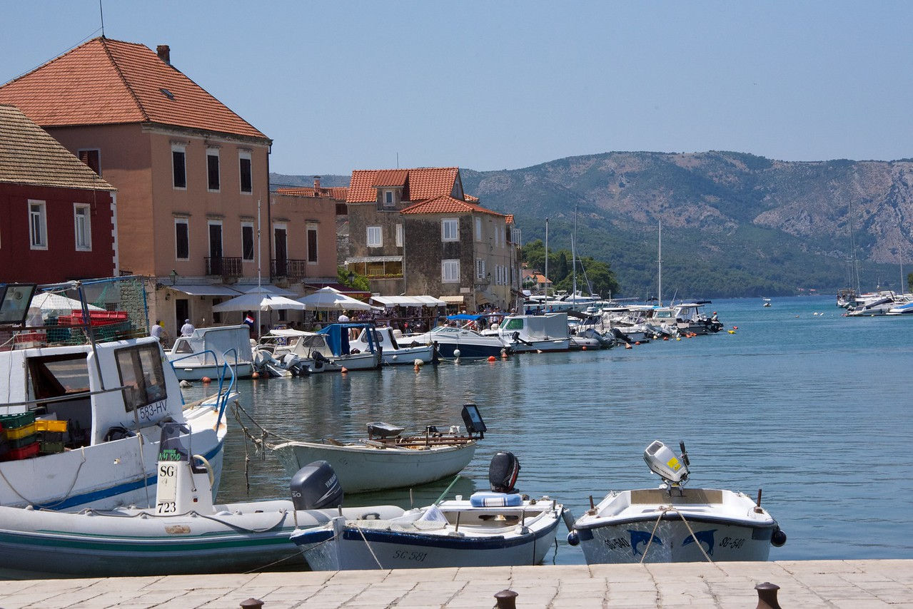 Waterfront of Stari Grad, a very popular vacation spot.