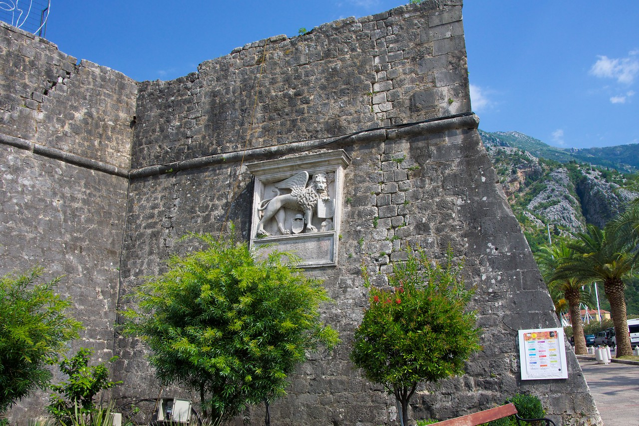 Venetian Lion guarding the Kotor City Gates.