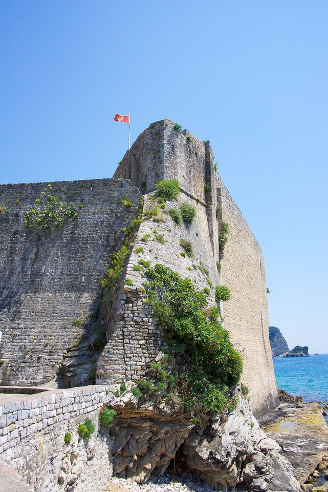The Citadel, the highest point in old city of Budva.