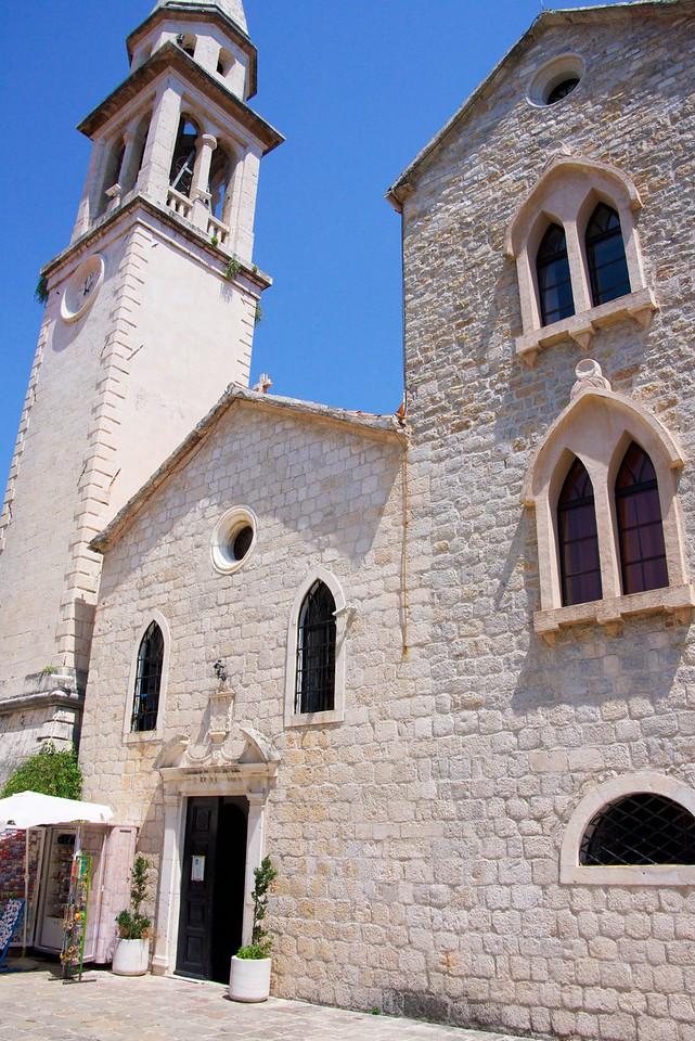 Church of St. John in Church Square in old city of Budva.