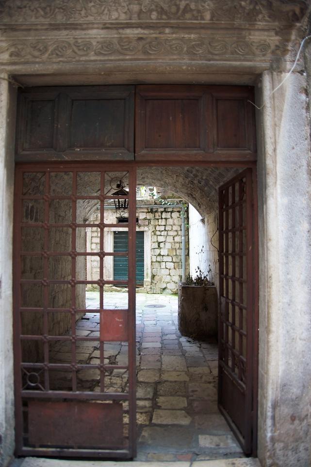 Kotor Old City courtyard.