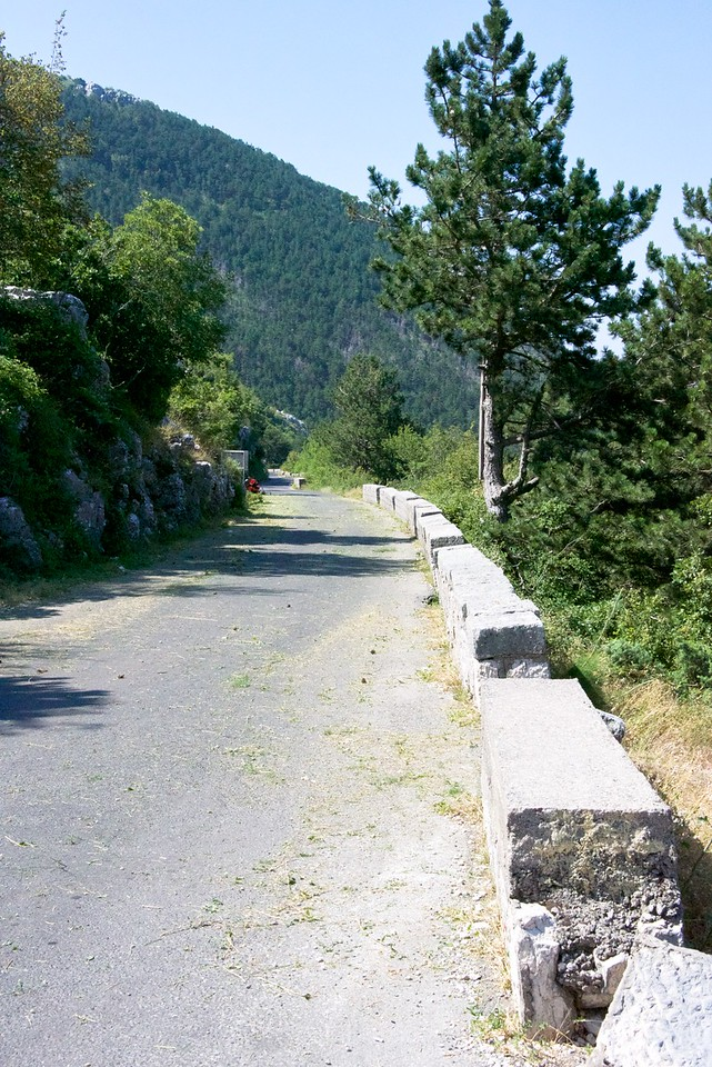 Road up the mountain built in 1887 and paved in 1970s.