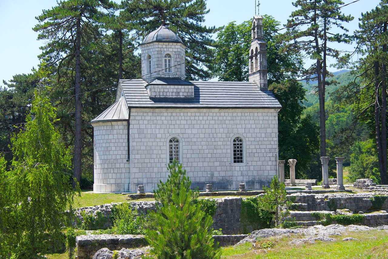 King Nicholas and Milena is buried in the church of the new Cetinje monastery.