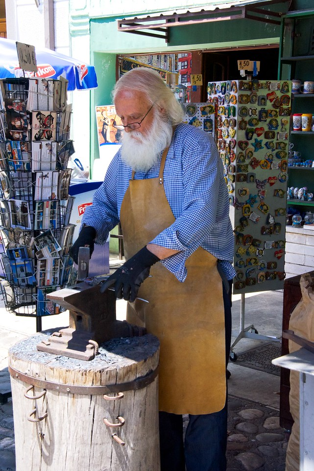 Blacksmith... creating artistic wares based on blacksmithing.