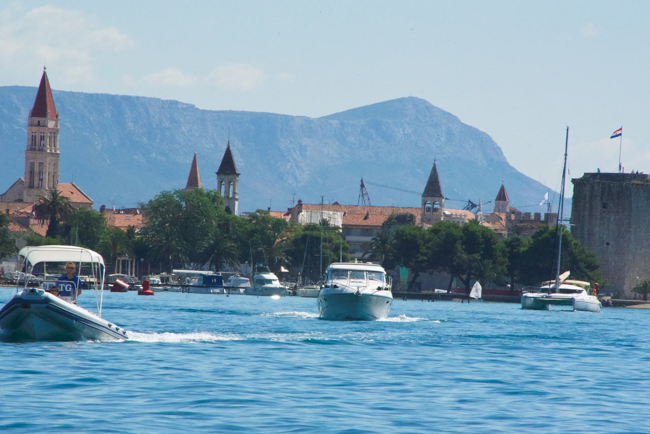 iew from the tender as it approaches Trogir.