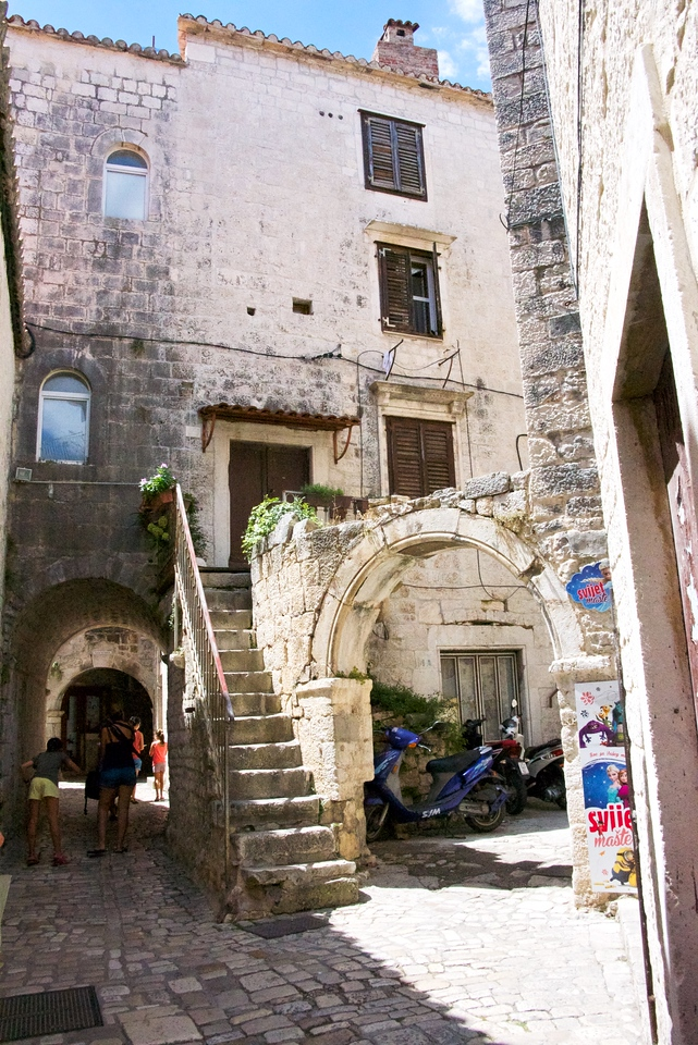 Typical of many of the Trogir inner streets.