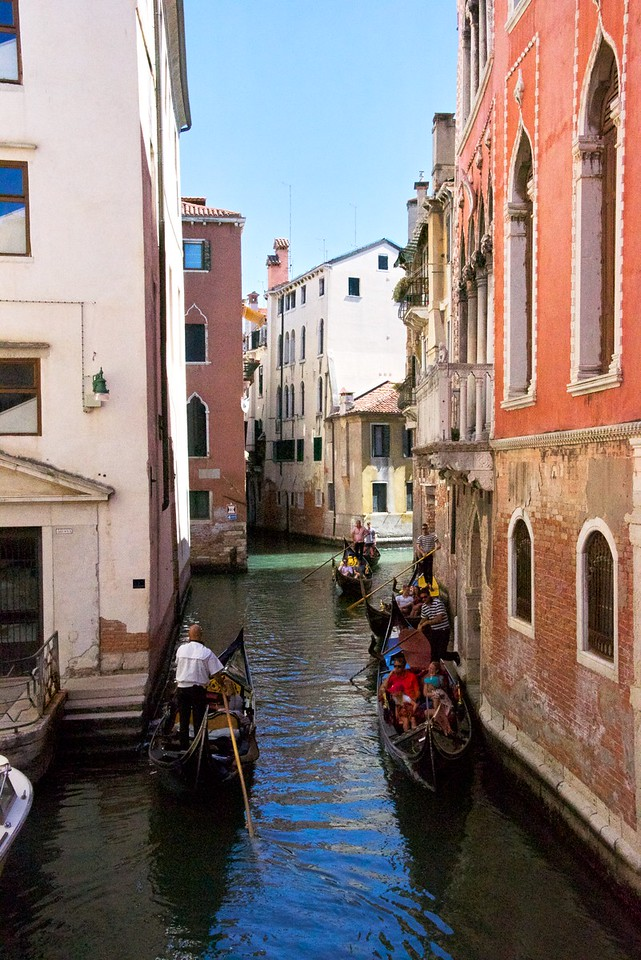 Typical scene on the canals throughout Venice.