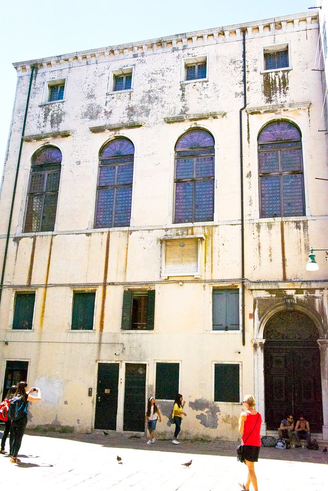 Scuola Spagnola founded by Jews expelled from the Iberian peninsula in 1490s and reached Venice in 1550s. It is open for services from Passover until the end of the High Holiday season.